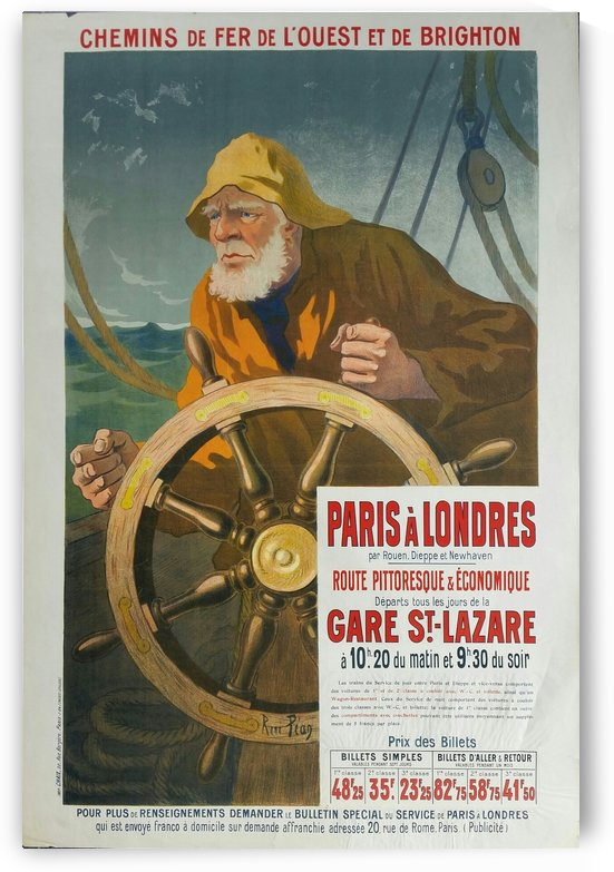 Original vintage poster Paris to London by VINTAGE POSTER