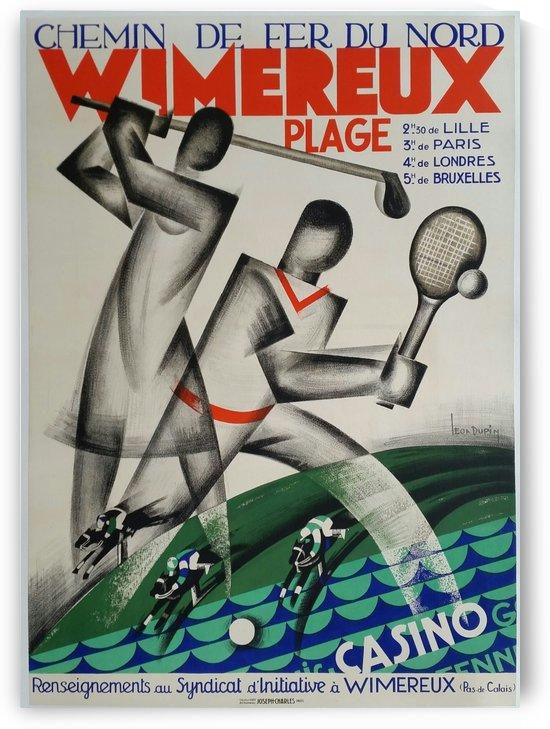 Original vintage poster golf Wimereux Plage Chemin de fer du Nord by VINTAGE POSTER