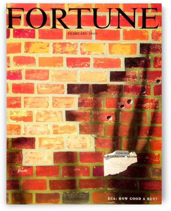 Fortune February 1949 poster by VINTAGE POSTER