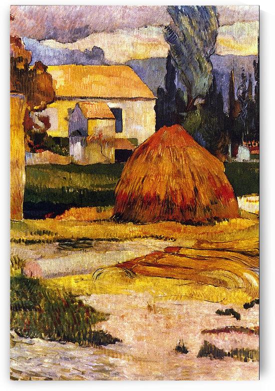 Landscape, Arles by Gauguin by Gauguin