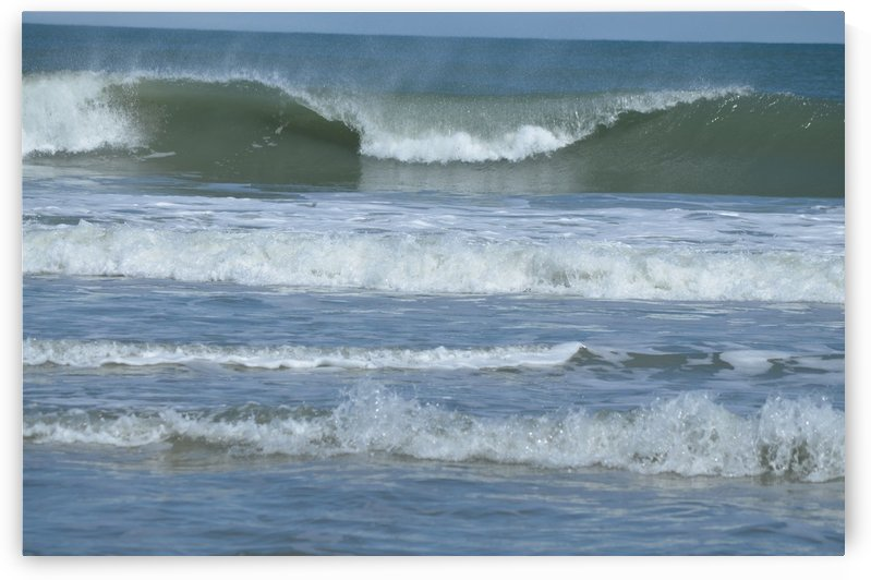 Breaking waves on the Outer Banks by BK