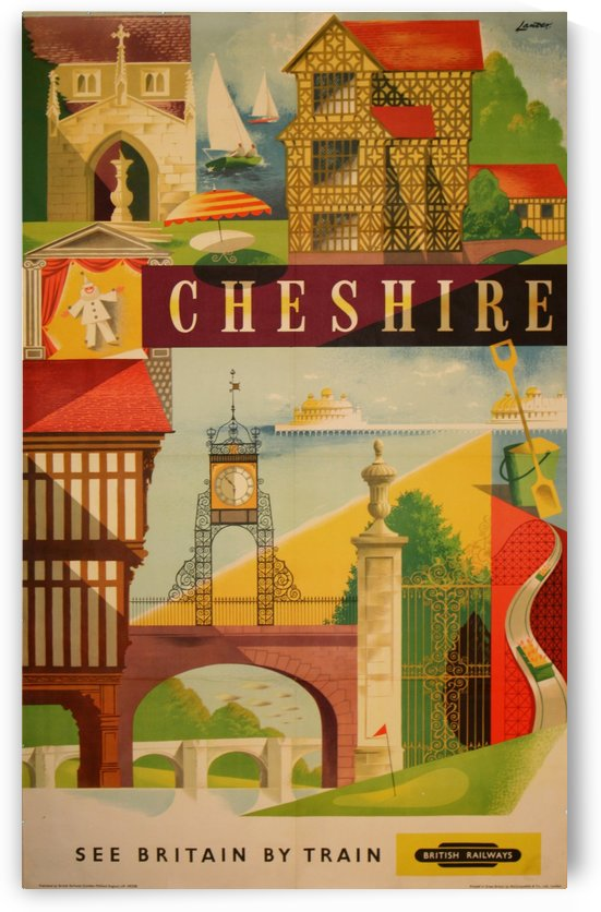 British Railways vintage travel poster Cheshire by VINTAGE POSTER