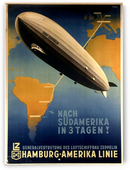 Graf Zeppelin to Argentina by VINTAGE POSTER