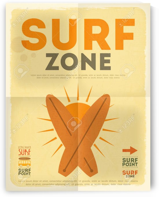 Surf Retro poster by VINTAGE POSTER