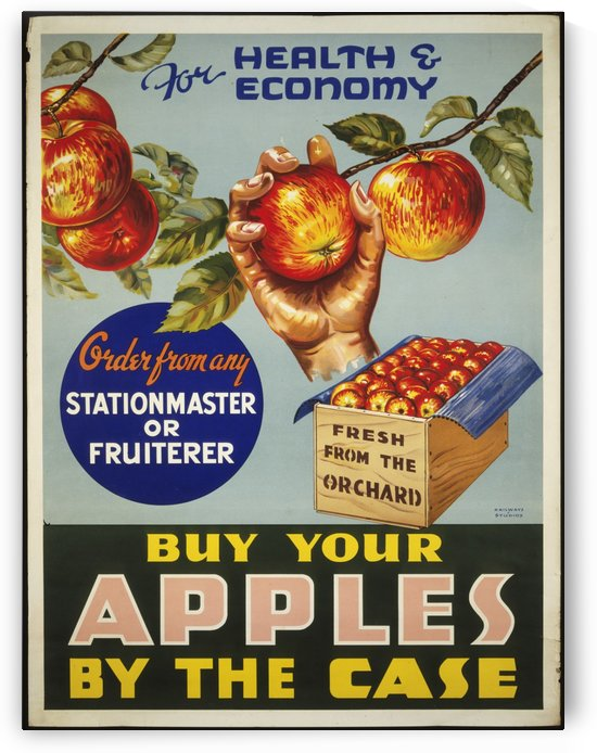 Buy your apples by the case by VINTAGE POSTER