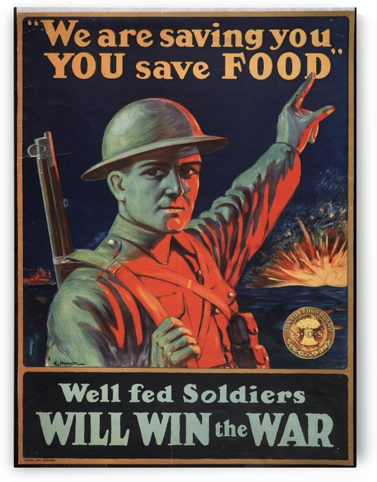 We are saving you, you save food by VINTAGE POSTER