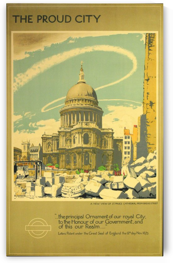 London Underground WW2 vintage poster by VINTAGE POSTER