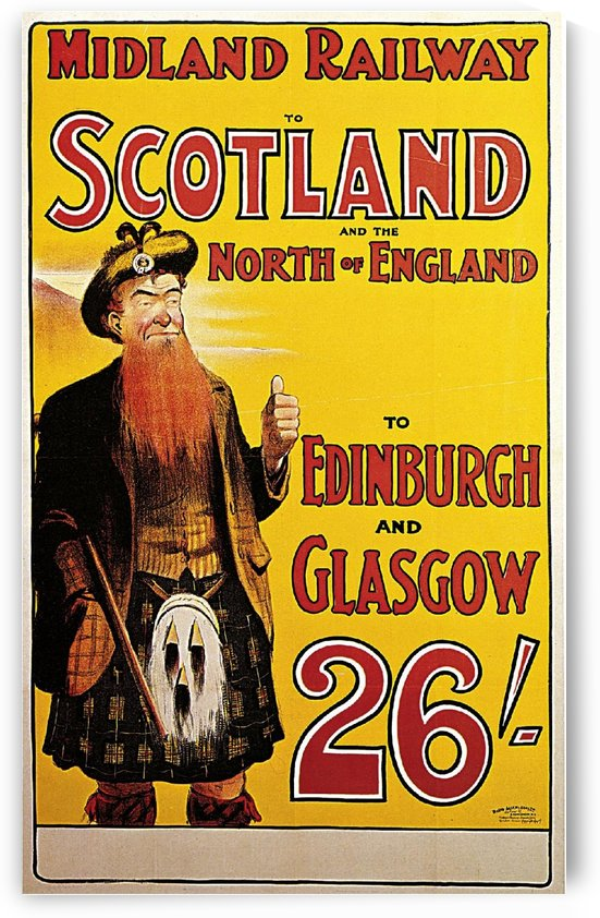 1904 Midland Railway to Scotland and the North of England travel poster by VINTAGE POSTER