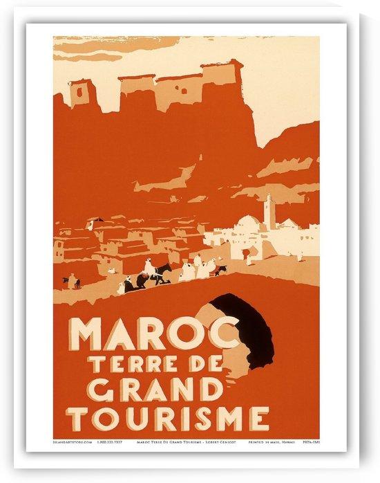 Morocco vintage travel poster by VINTAGE POSTER