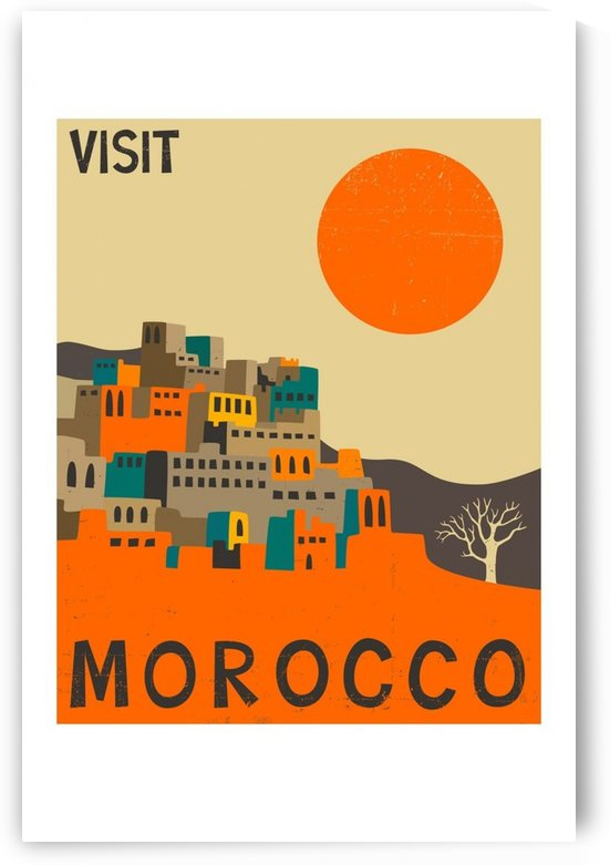 Visit Morocco vintage travel poster by VINTAGE POSTER