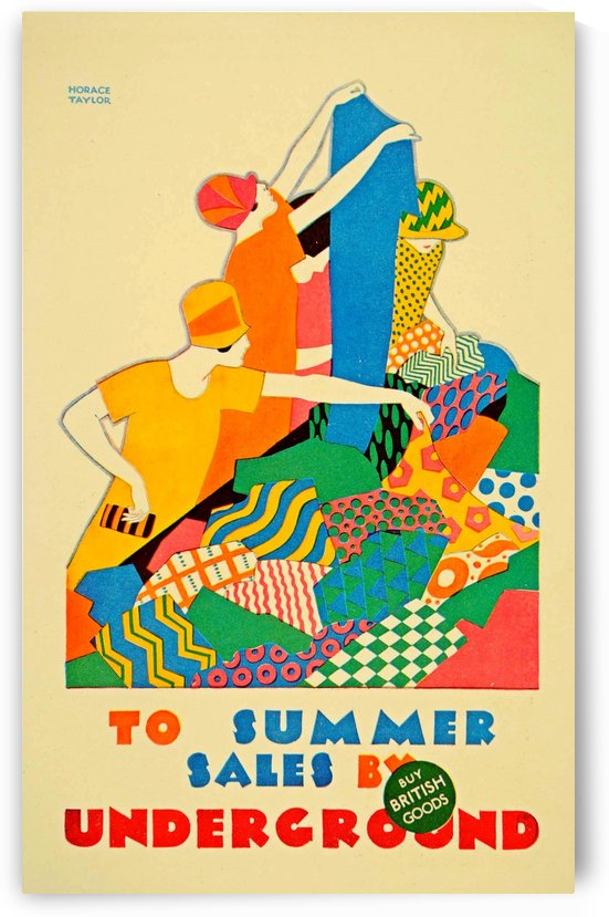 1926 Art Deco photo-lithograph mini poster for London Underground by VINTAGE POSTER