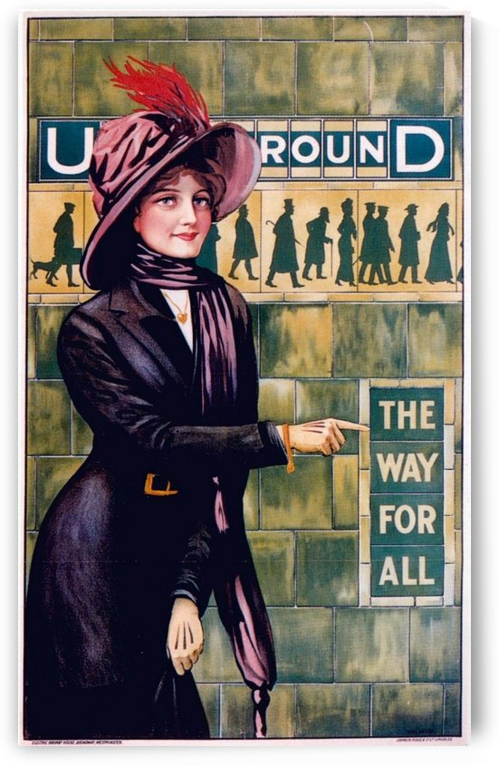 London Underground The way for all vintage poster by VINTAGE POSTER