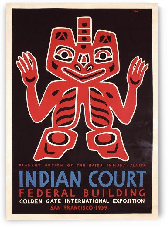 Indian Court vintage poster by VINTAGE POSTER