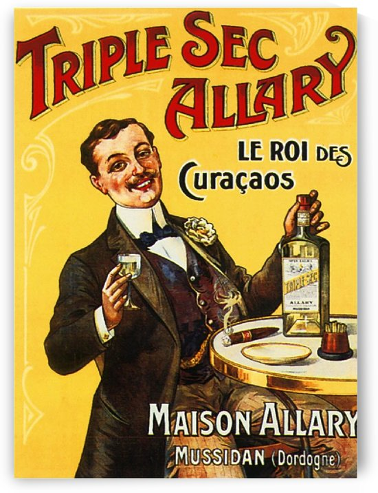 Vintage French Liquor Poster by VINTAGE POSTER