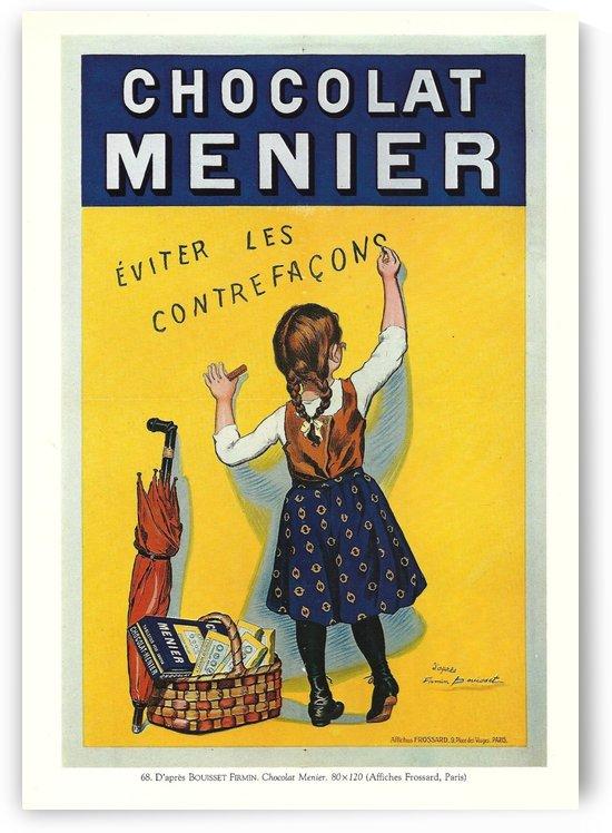 Chocolat Menier vintage poster by VINTAGE POSTER