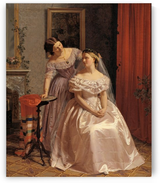 Bride embellished by friend by Henrik Olrik