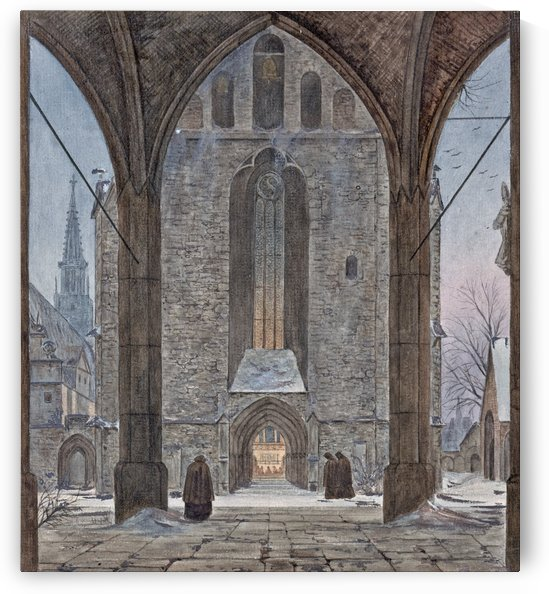 Cathedral in Winter by Ernst Ferdinand Oehme