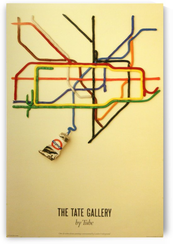 London Underground art poster by VINTAGE POSTER