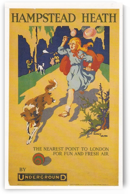 London Underground Hampstead Heath poster by VINTAGE POSTER