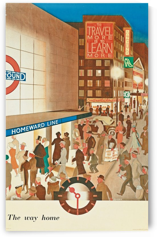 London Underground The way home poster by VINTAGE POSTER