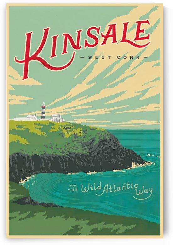 Kinsale Wild Atlantic Way vintage travel poster by VINTAGE POSTER