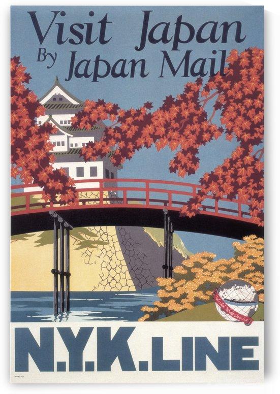 Visit Japan by Japan Mail vintage poster by VINTAGE POSTER