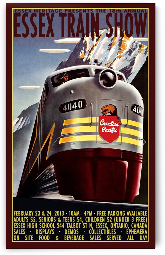 Essex Train Show by VINTAGE POSTER