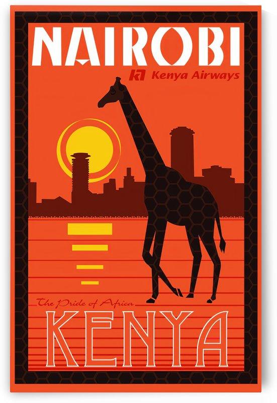 Nairobi The pride of Africa Kenya Airways travel poster by VINTAGE POSTER