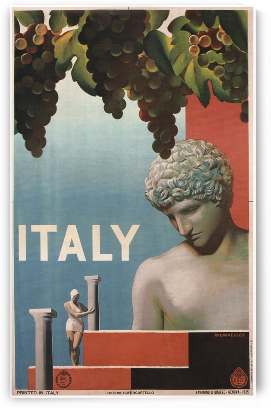 Italy vintage travel poster, 1935 by VINTAGE POSTER