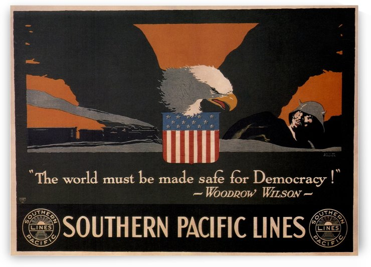 1918 Southern Pacific Lines Vintage Travel Poster by VINTAGE POSTER