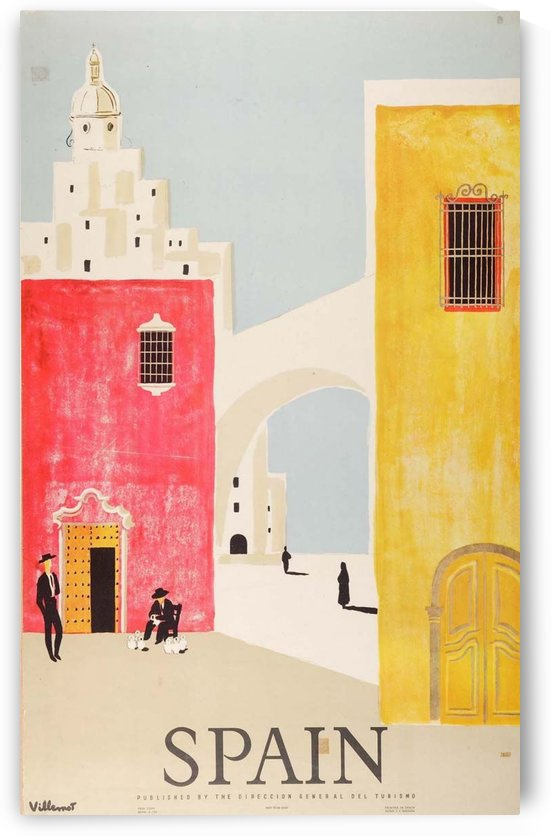 Spain vintage travel poster by VINTAGE POSTER