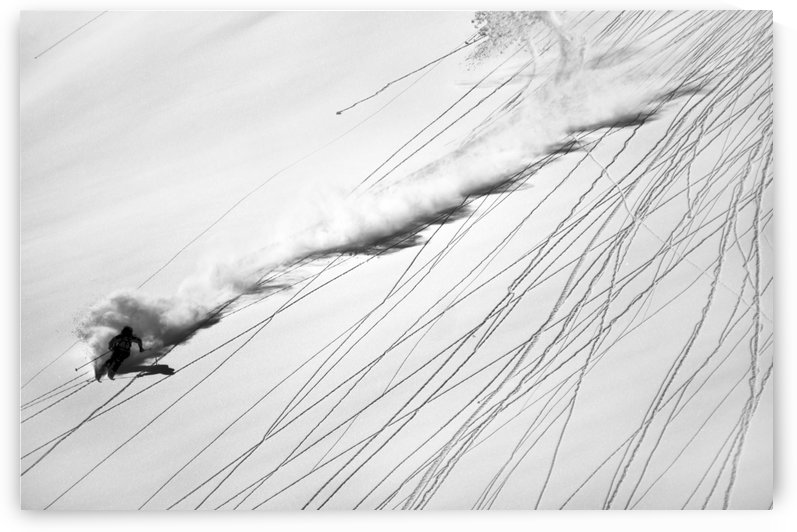 Skiing Powder by 1x