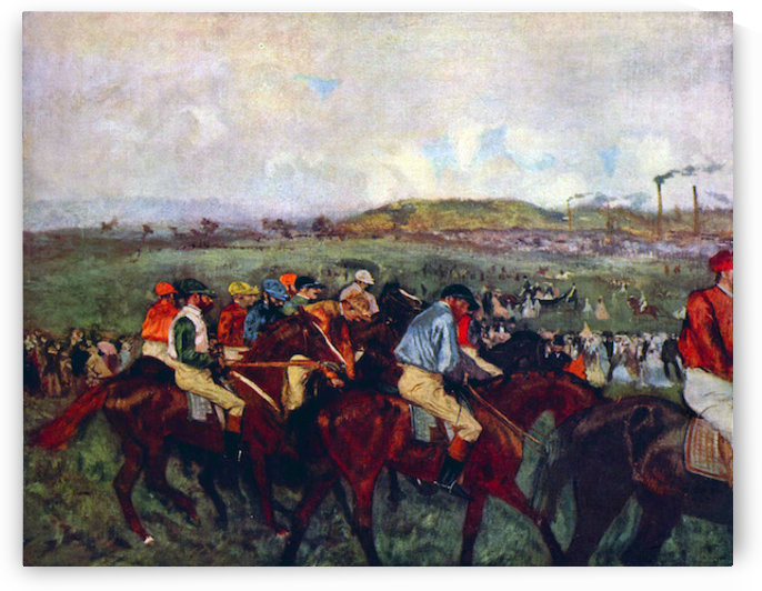 Mens riders before the start by Degas by Degas