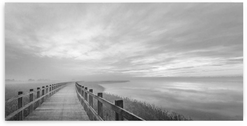 The long wooden footbridge. by 1x