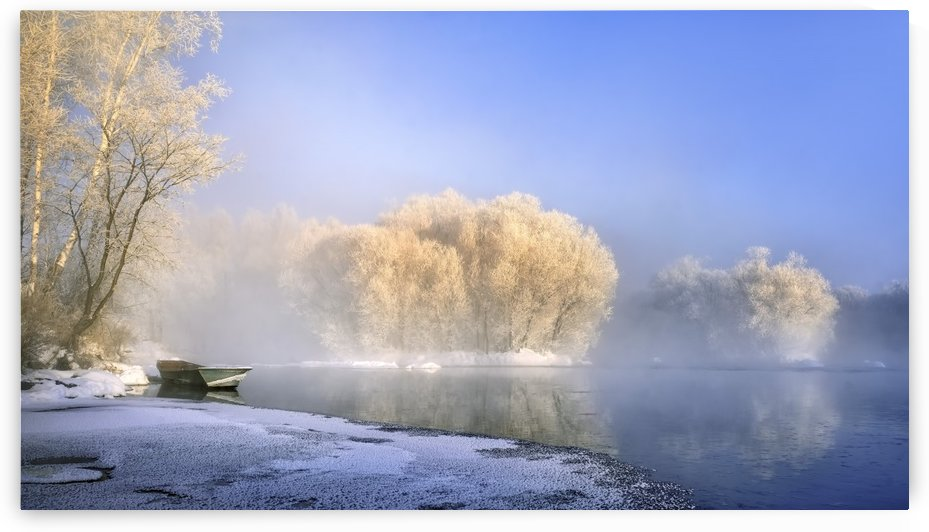 Morning fog and rime in Kuerbin by 1x
