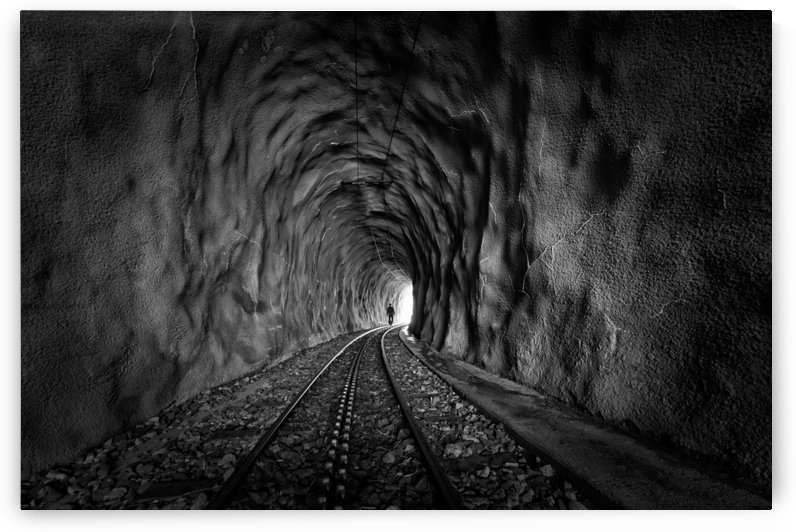 In the bowels of the mountain-BW by 1x