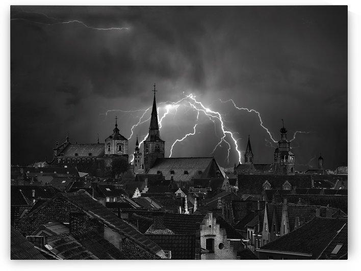 Chaos in the sky of Bruges by 1x