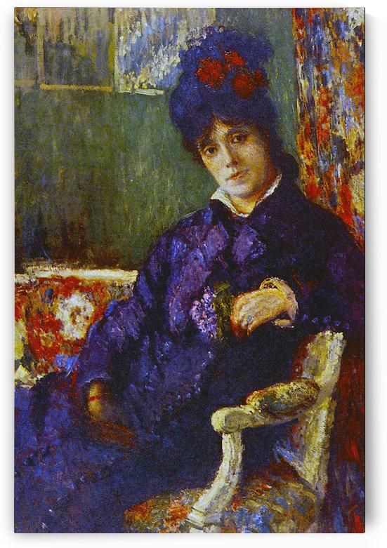 Seated Woman by Cassatt by Cassatt