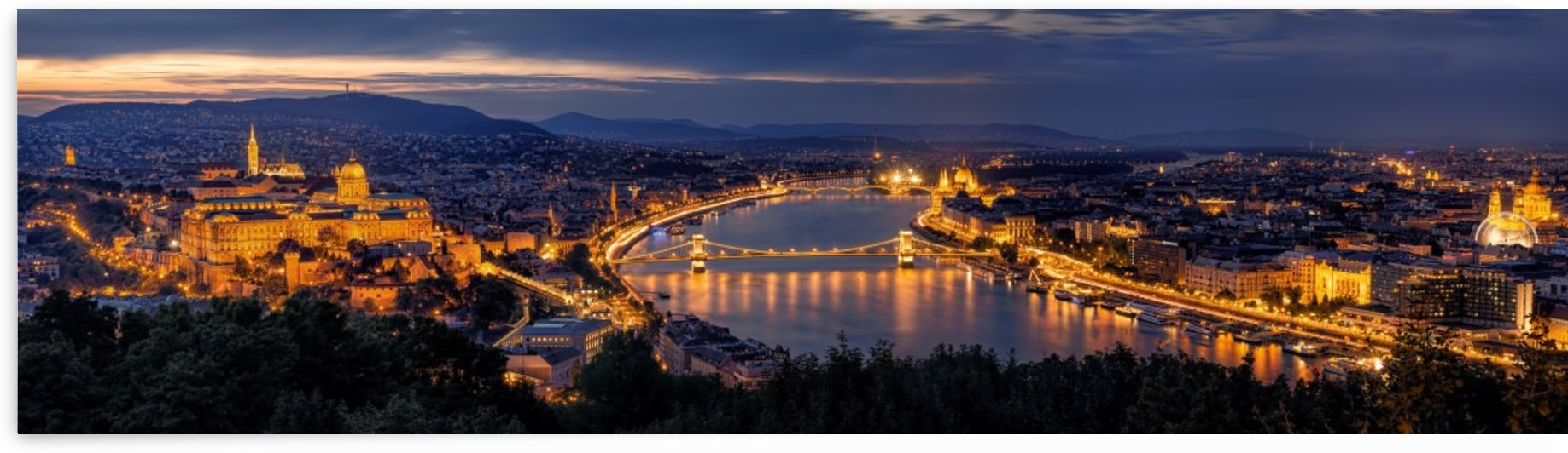 Panorama of Budapest by 1x
