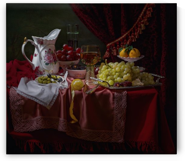 Still life in the Dutch style with a jug by 1x
