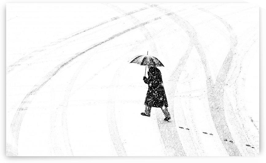 Mann mit Schirm /a man of umbrellaed by 1x