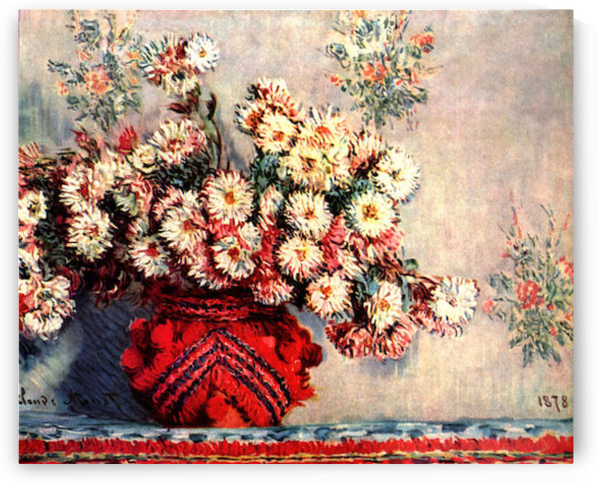 still life chrysanthemums by