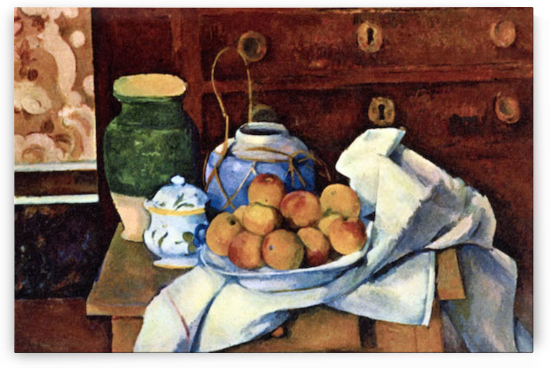 Still Life with Chest of Drawers by Cezanne by Cezanne