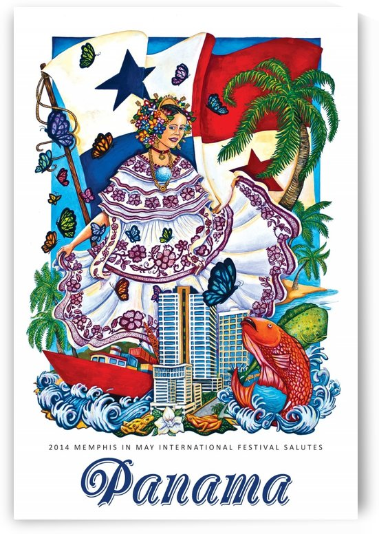 Panama vintage travel poster by VINTAGE POSTER