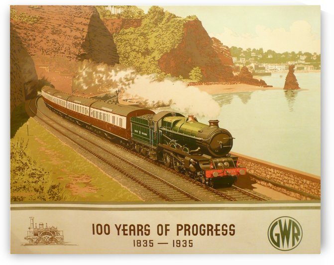 100 Years Of Progress Railway poster by VINTAGE POSTER