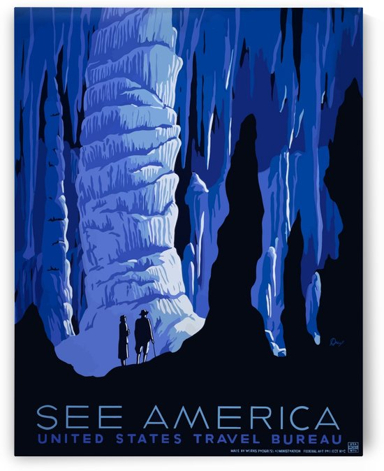 See America vintage travel poster for United States Travel Bureau by VINTAGE POSTER