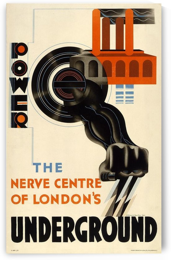 Power the nerve centre of London Underground by VINTAGE POSTER