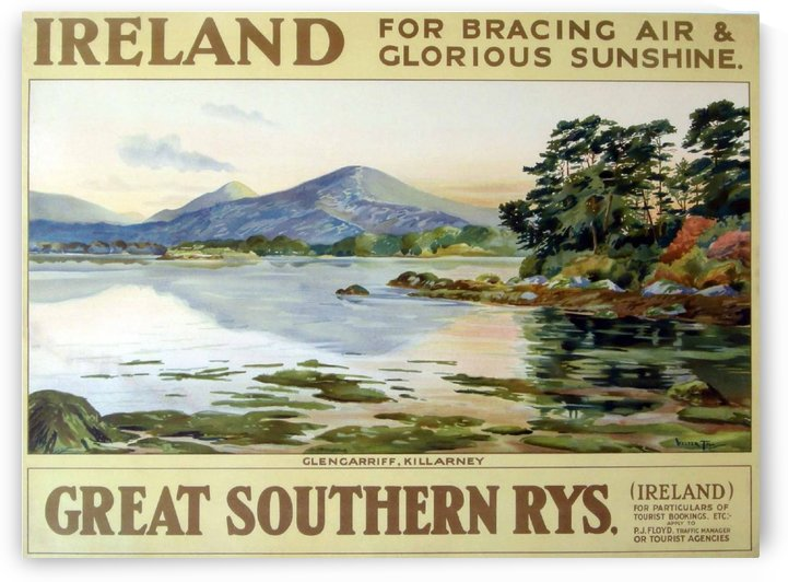 Walter Till Ireland Great Southern Railways vintage poster by VINTAGE POSTER
