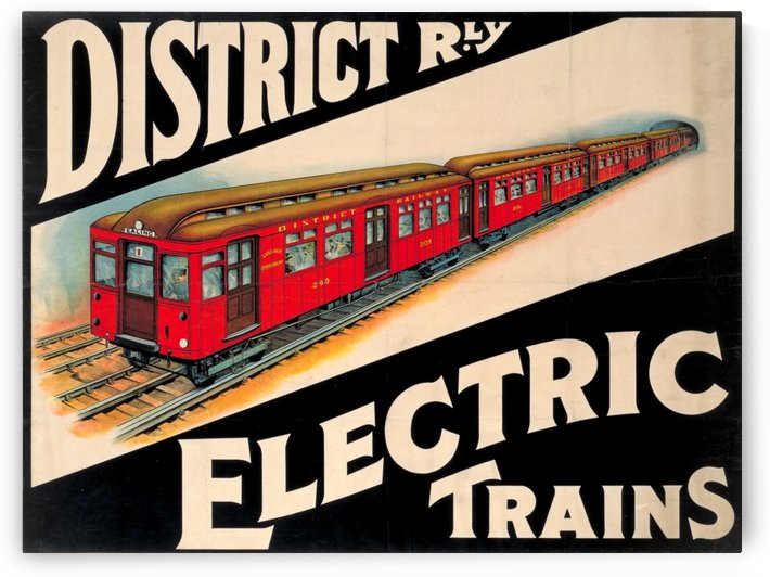 Electric trains vintage poster by VINTAGE POSTER
