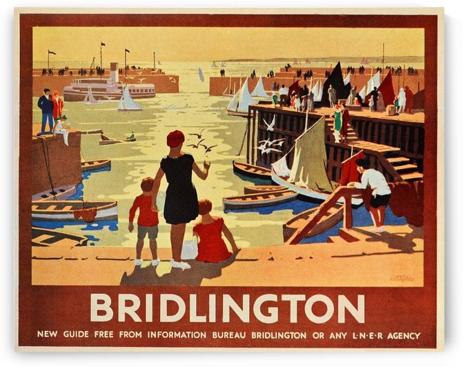 Vintage poster for transport around Bridlington by VINTAGE POSTER
